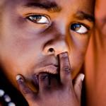 Kriegsflüchtlings Kind